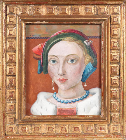 Richard Eurich A.R.A. (British, 1903-1992) Head of a Girl 20.9 x 17.2 cm. (8 1/4 x 6 3/4 in.)