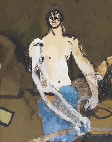 Keith Vaughan (British, 1912-1977) Breton Fisherman 25 x 19.8 cm. (9 7/8 x 7 7/8 in.)