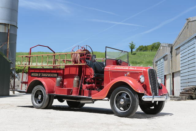 1937 Ford 1½-ton Pumper Fire Truck  Chassis no. BB1831718809