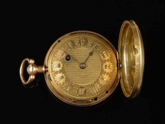 A George III 18ct gold hunter pocket watch