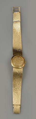 Bulova: An 18ct gold lady's Accutron wristwatch