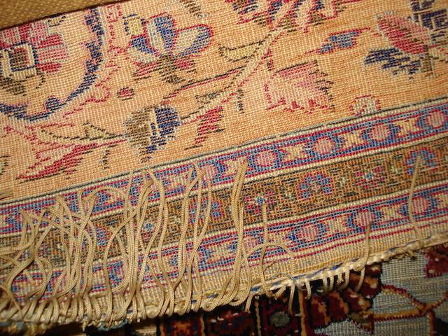 A silk Kashan souf rug, Central Persia, 200cm x 130cm