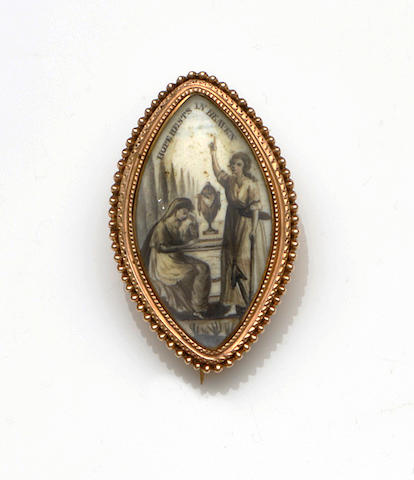 A late 18th century memorial brooch/pendant