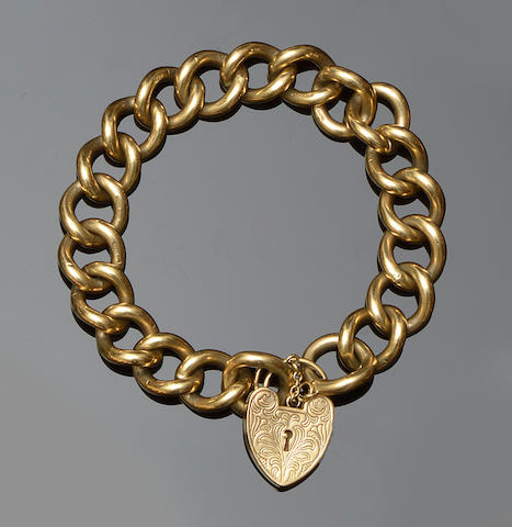 A 9ct gold curb-link bracelet