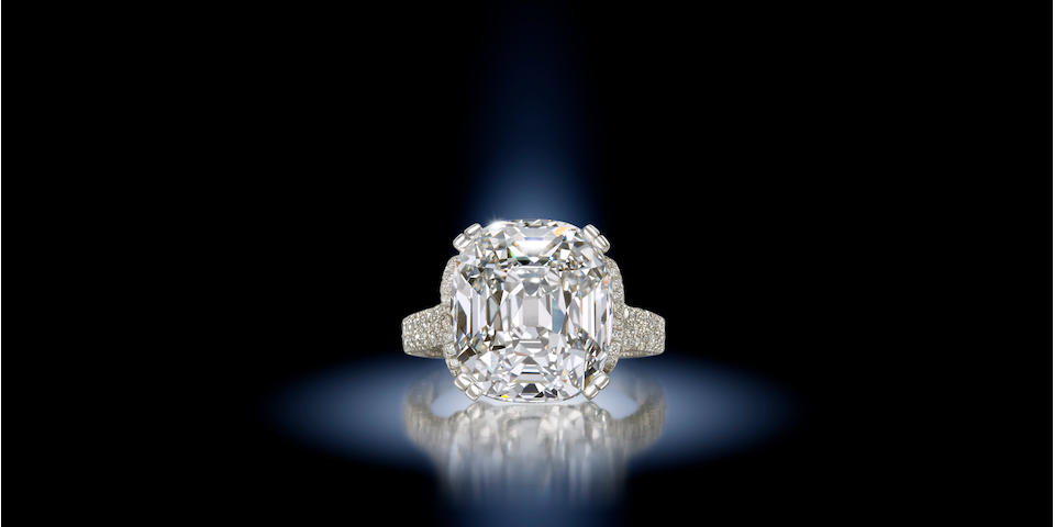 A magnificent diamond single-stone ring, by David Morris