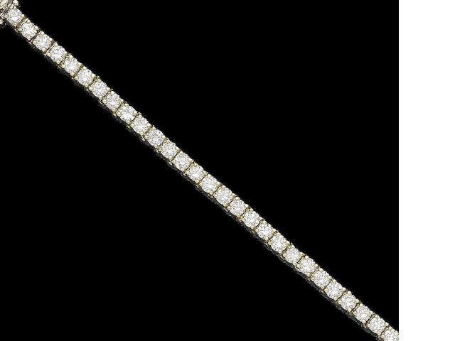 A diamond line bracelet