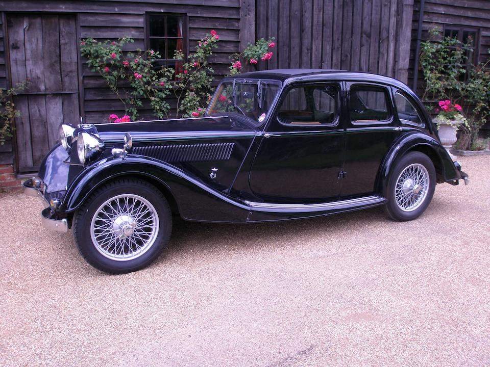 1936 Riley 1½-Litre Kestrel Sprite Sports Saloon  Chassis no. SS26K 4878 Engine no. SSK 4878