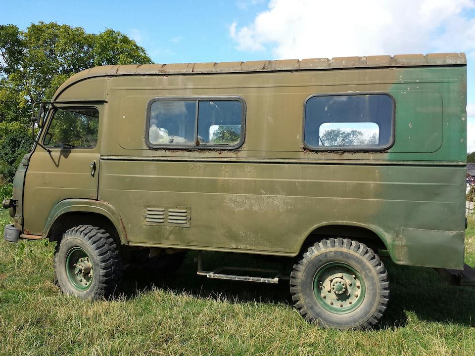 Left-hand drive & Property of the Earl of Onslow,1971 SAVIEM TP3L39 4x4 Gun Bus  Chassis no. 251953 Engine no. 0817-04070