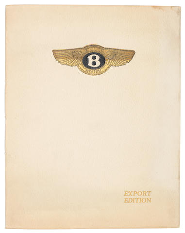 A rare Bentley 4½ Litre 'Export Edition' sales brochure, 1928,