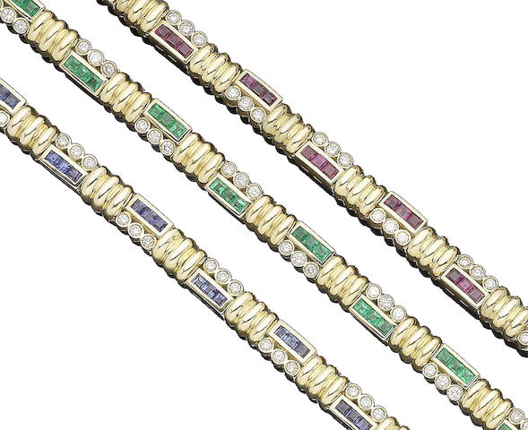 Three gem-set bracelets, by Alvestile (3)