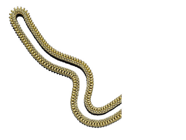 An early 19th century gold longchain,