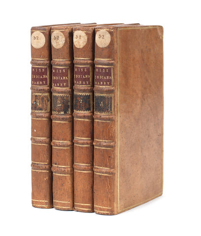 MISS INDIANA DANBY The History of Miss Indiana Danby. By a Lady, 4 vol., 1770-1767