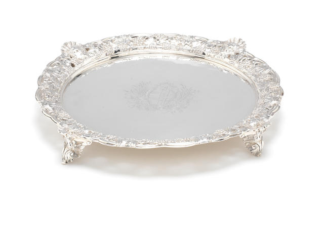 An impressive George II silver salver by Thomas Gilpin, London 1753