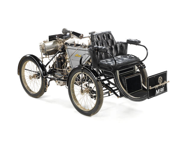 1901 Ariel 345cc Quadricycle/Tricycle  Frame no. 85 Engine no. 607
