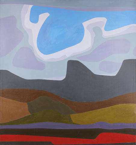 Erik (Frederik Bester Howard) Laubscher (South African, 1927-2013) 'Turbulent Sky'
