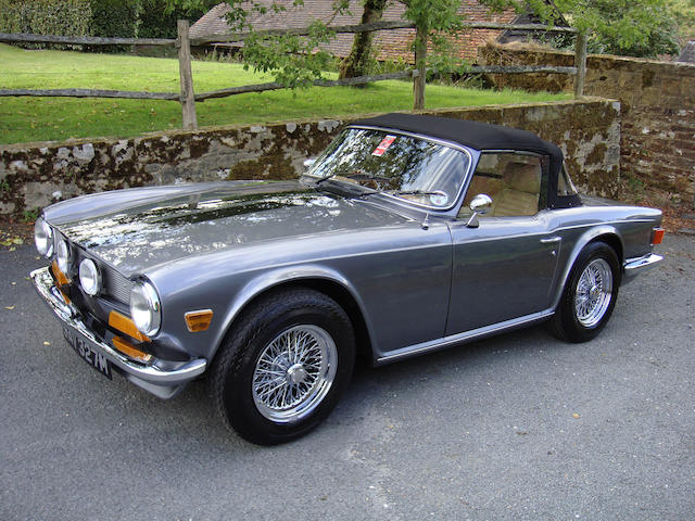 Bonhams 1973 Triumph Tr6 Roadster Chassis No Cf16039 U Engine No