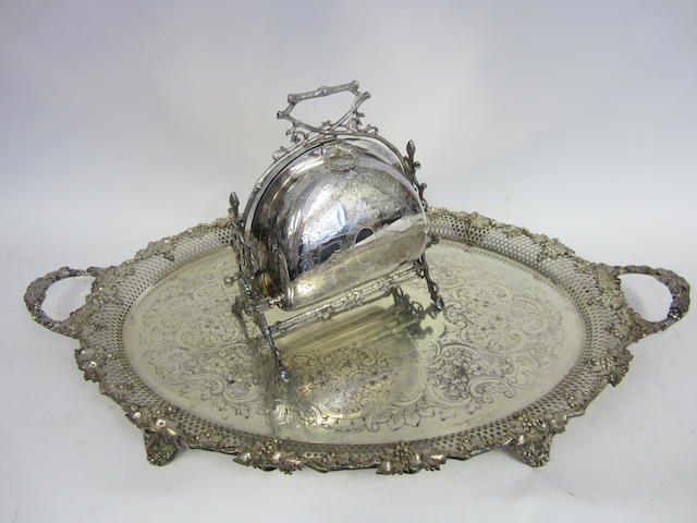 An electroplated biscuit warmer  (Qty)