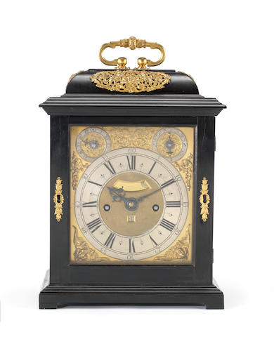 A fine and rare late 17th century ebony veneered, quarter repeating table clock Thomas Tompion, London, number 171