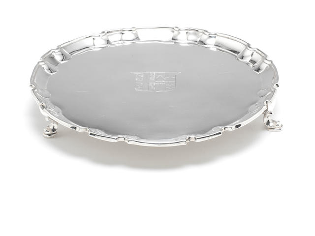 A George III  silver salver by Robert Jones, London 1771