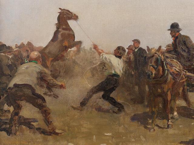 Sir Alfred James Munnings, PRA, RWS (British, 1878-1959) The Fair