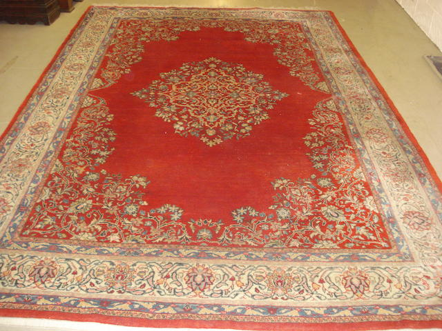 A Sarouk carpet, West Persia, 349cm x 228cm