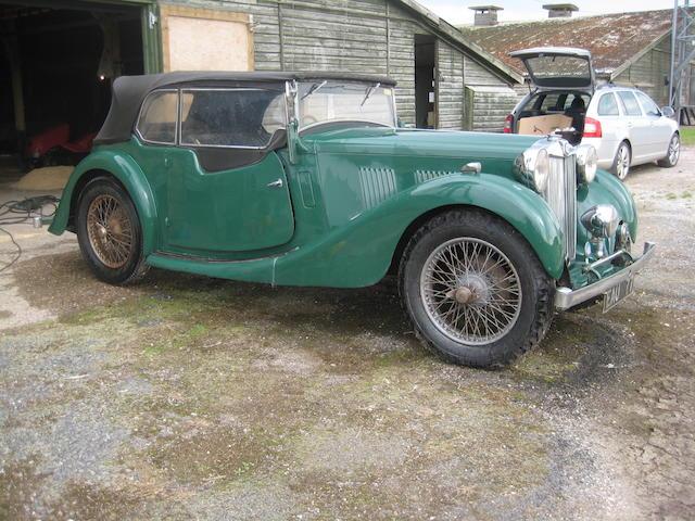 1937 MG VA Drophead Coupé Project  Chassis no. VA 0672 Engine no. A16127D