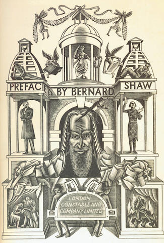SHAW (BERNARD) Prefaces, FIRST EDITION, 1934