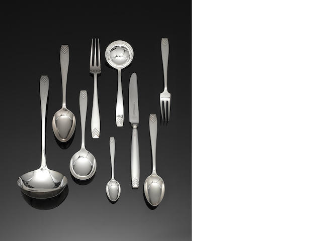 A silver table service of flatware by Roberts & Belk, Sheffield, predominately 1939, also numbered RD 820050  (121)