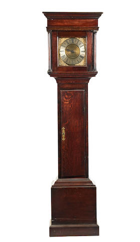 A mid 18th century oak 30 hour striking longcase clock Gilkes. Shipston.