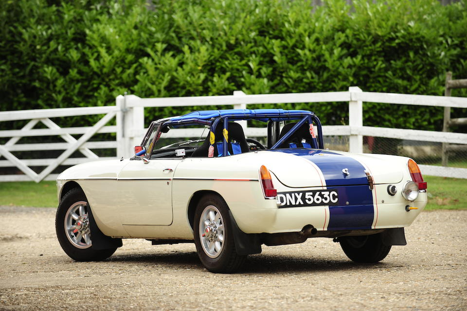 1965 MGB Competition Roadster  Chassis no. G/HN3-56897 Engine no. 18G3/U/H7366