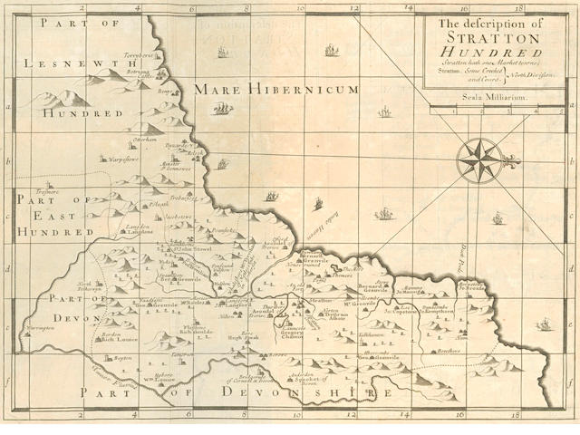 NORDEN (JOHN) Speculi Britanniae Pars. A Topographical Description of Cornwall, 1728