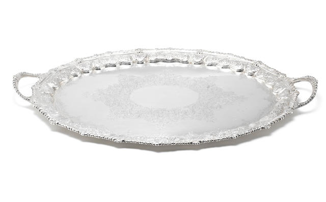 A Victorian silver two-handled tray by Mappin Bros, Sheffield 1897