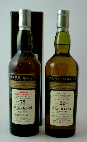 Hillside-25 year old-1970<BR /> Dailuaine-22 year old-1973