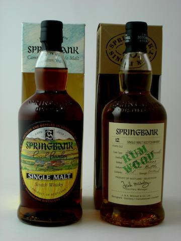 Springbank Local Barley-1965<BR /> Springbank Rum Wood-12 year old-1989