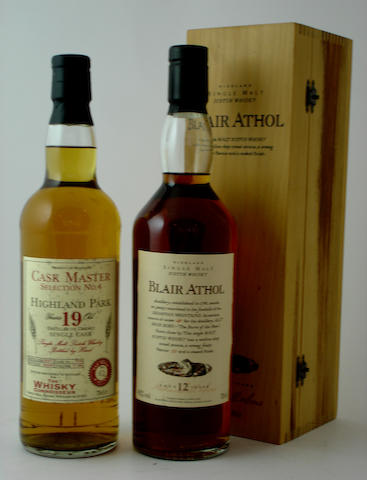 Highland Park-19 year old-1977<BR /> Blair Athol-12 year old