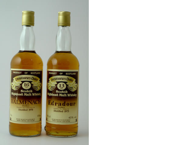 Balmenach-16 year old-1970<BR /> Edradour-13 year old-1973