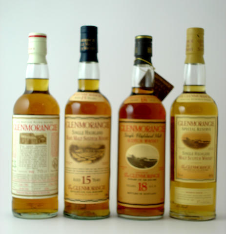 Glenmorangie Native Ross-shire-10 year old-1984<BR /> Glenmorangie-15 year old<BR /> Glenmorangie-18 year old<BR /> Glenmorangie Special Reserve