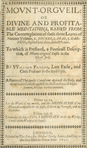 PRYNNE (WILLIAM) Mount-Orgueil, 1641; [SHIPPEN (WILLIAM)] Faction Display'd. A Poem. From a Corrected Copy; [FREKE (JOHN)] The History of Insipids, a Lampoon... Together with Marvil's Ghost; [SHEFFIELD (JOHN)] An Essay on Poetry, 1709; and 3 further early eighteenth century pamphlet editions (7)