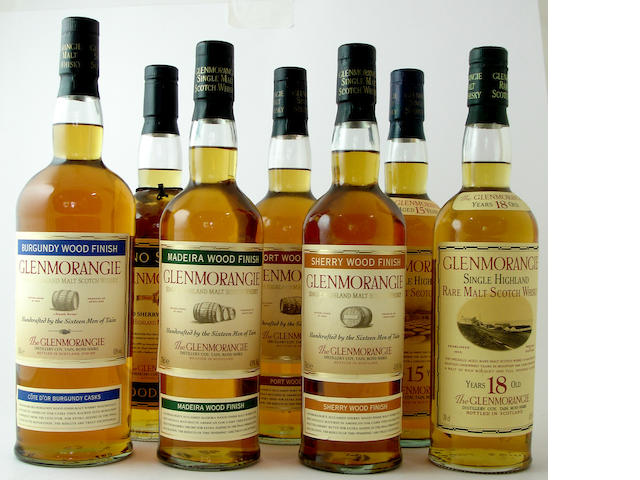 Glenmorangie Burgundy Wood Finish<BR /> Glenmorangie Fino Sherry Wood Finish<BR /> Glenmorangie Madeira Wood Finish<BR /> Glenmorangie Port Wood Finish<BR /> Glenmorangie Sherry Wood Finish<BR /> Glenmorangie-15 year old<BR /> Glenmorangie-18 year old