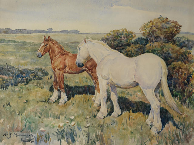 Sir Alfred James Munnings P.R.A., R.W.S. (British, 1878-1959) Off into the fields