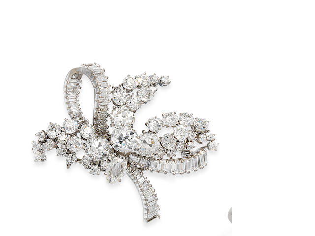 A diamond brooch, by Ventrella