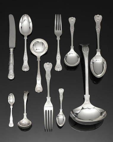 A silver King's pattern table service of flatware predominately by Cooper Bros & Sons Ltd, Sheffield 1968 / 1969  (Qty)