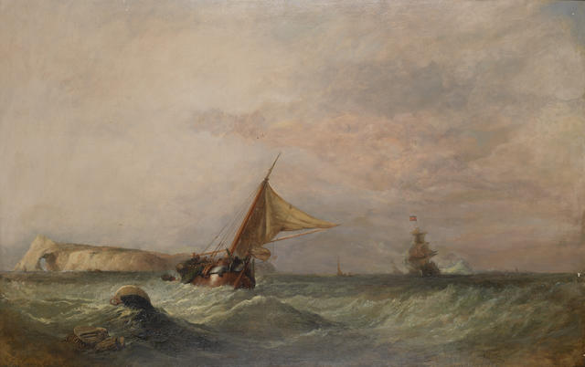 Clarkson Stanfield RA (British, 1793-1867) A skirmish off Heligoland