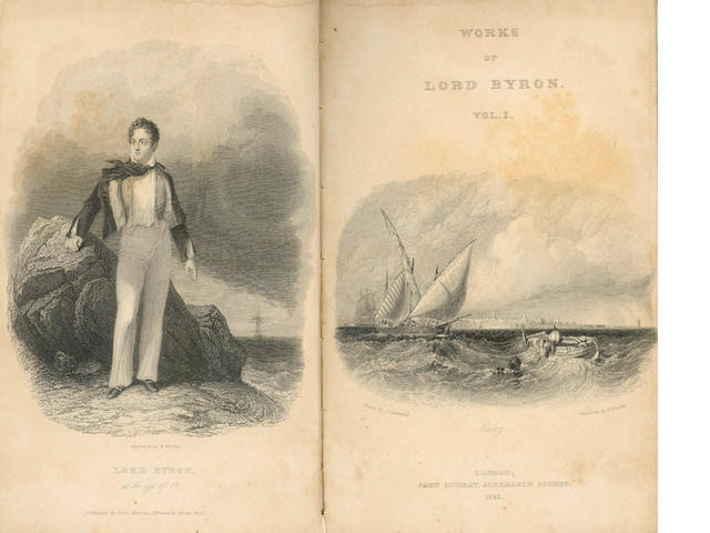 BYRON (GEORGE GORDON, LORD) The Works of Lord Byron: with His Letters and Journals, and his Life, by Thomas Moore, Esq., 1833, 17 vol.