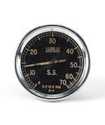 A large dashboard racing tachometer, by A F Ashby, late 1920s,