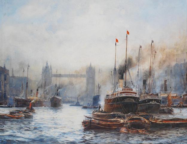 Frank William Scarbrough (British, 1860-1939) 'The Tower Bridge, London'