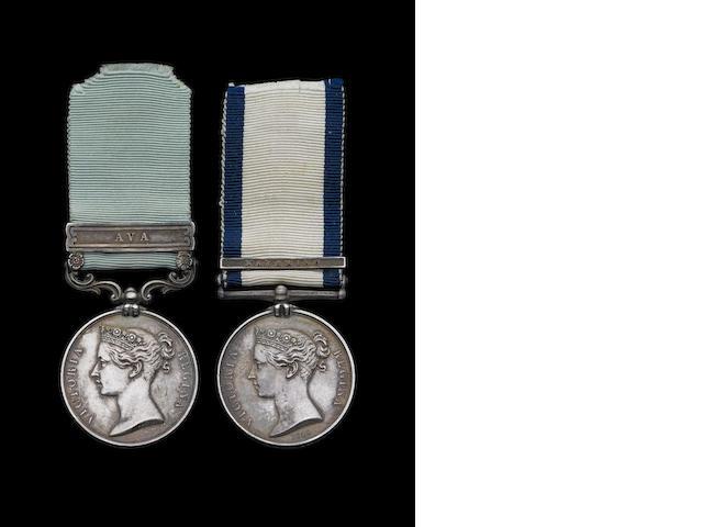 Pair to Surgeon S.Irvine, Royal Navy,