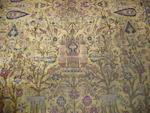 A silk Kashan rug, Central Persia, 210cm x 120cm