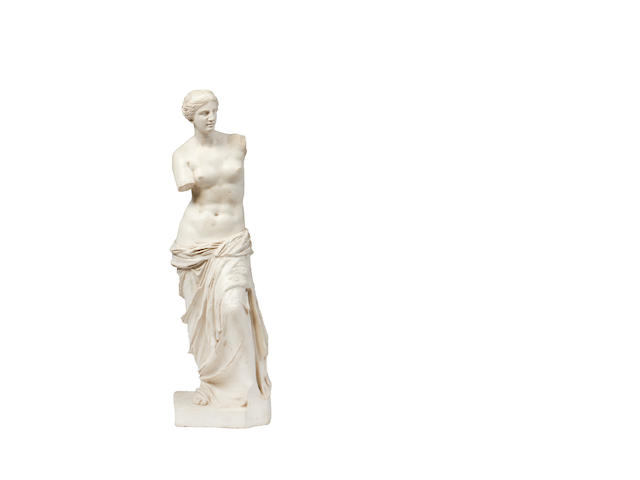 A white resin figure of the Venus di Milo
