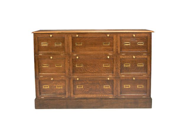 An oak haberdashery unit